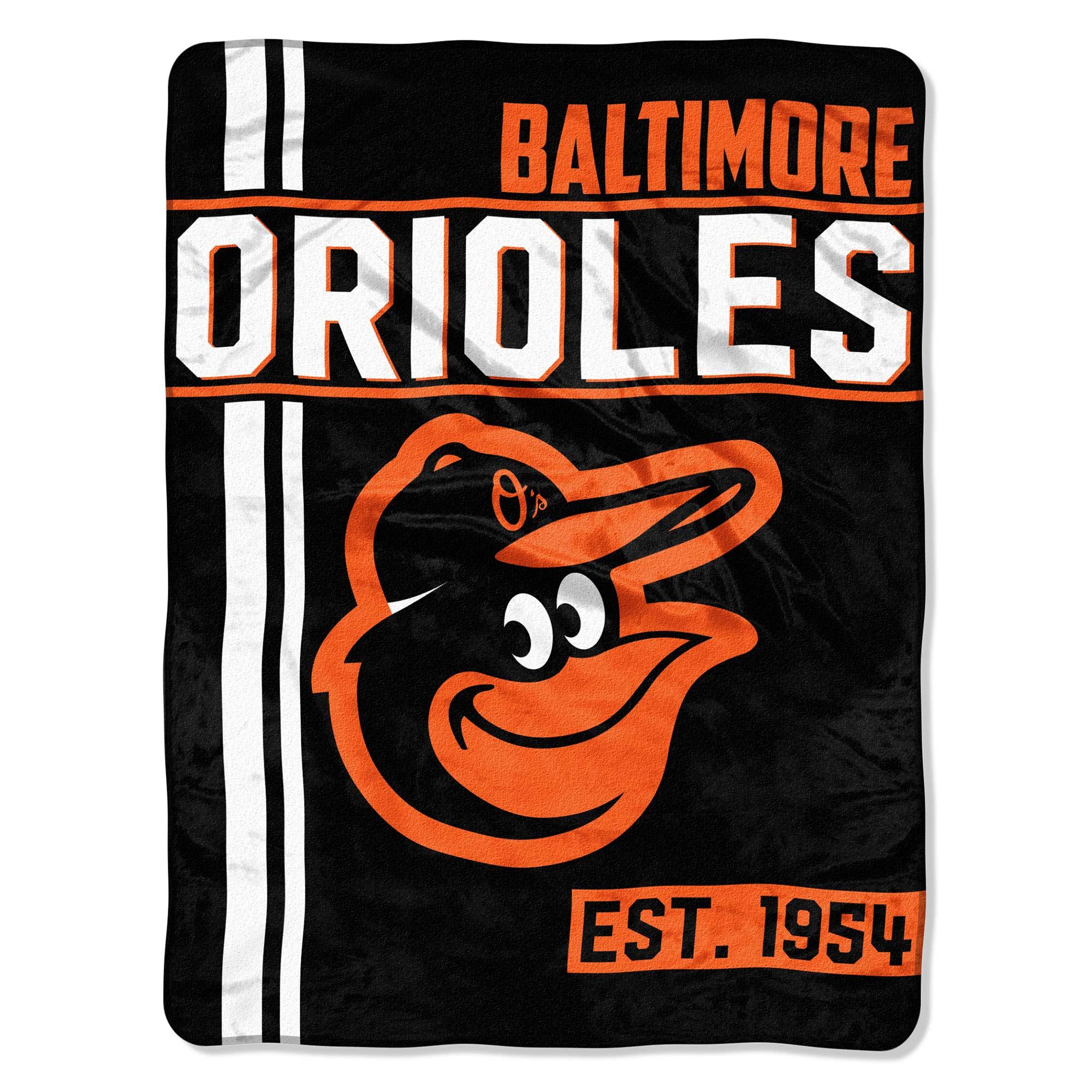 "MLB Baltimore Orioles ""Walk Off"" 46""x 60"" Micro Raschel Throw"