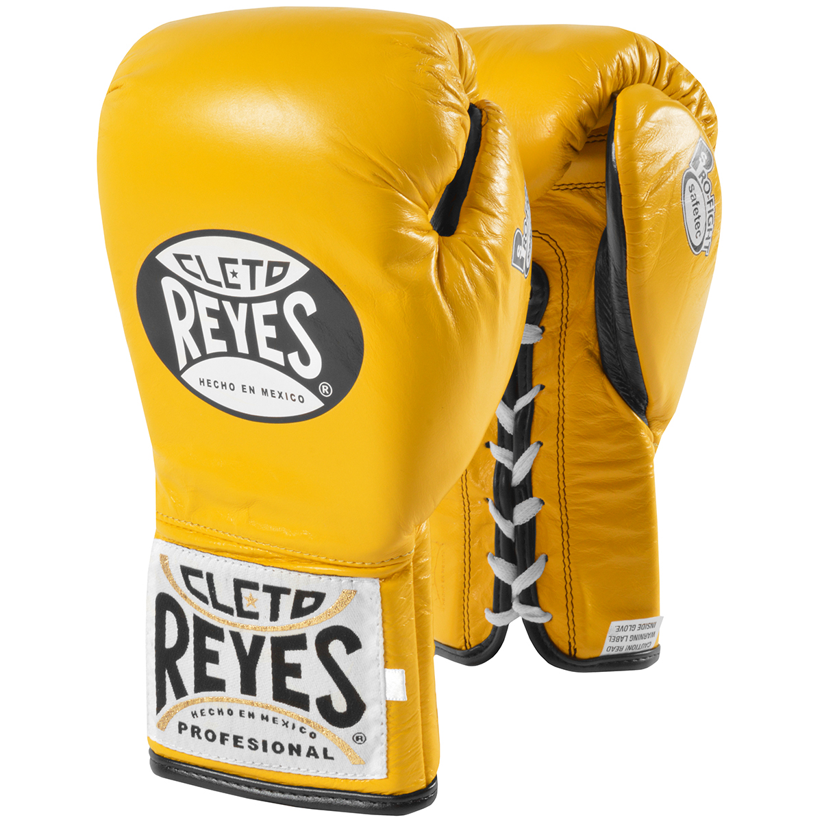 Yellow Cleto Reyes Safetec Professional Boxing Fight Gloves 10 oz