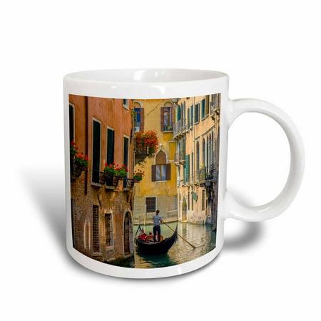 3dRose Gondola on a canal in Venice, Italy. - Ceramic Mug, 11-ounce (Italian Gondola Driver)