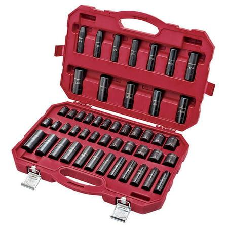 Craftsman Impact Socket Set 1/2 in Drive 6 Pointa 48 pc.16548
