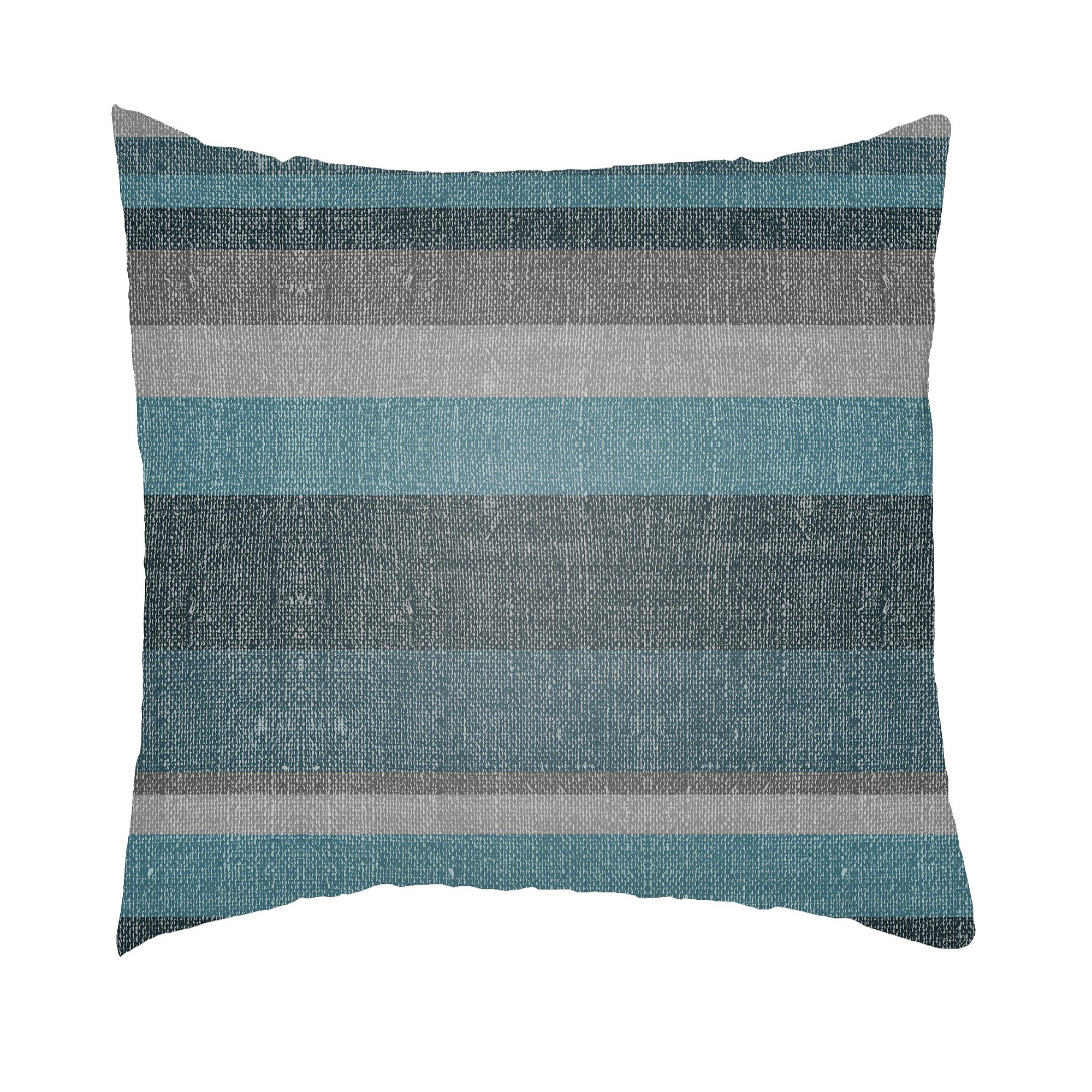 24 Sapphire Blue And Gray Striped Rectangular Throw Pillow Cover Walmart Com Walmart Com
