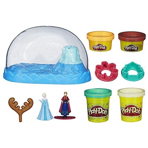 Disney Frozen PlayDoh Sparkle Snow Dome Figure doll Ana elsa
