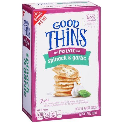 Mondelez Nabisco Good Thins Spinach & Garlic Potato & Wheat Snacks, 3.75oz