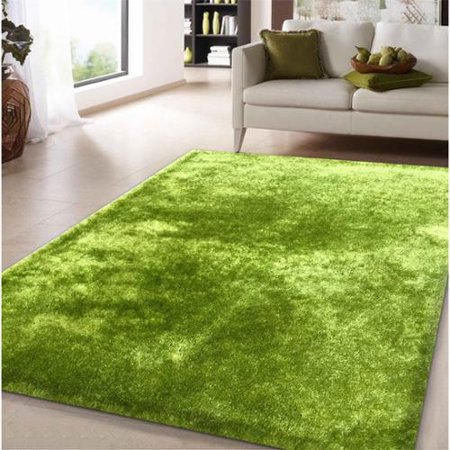 shag solid green area rug 5 39 x 7 39. Black Bedroom Furniture Sets. Home Design Ideas
