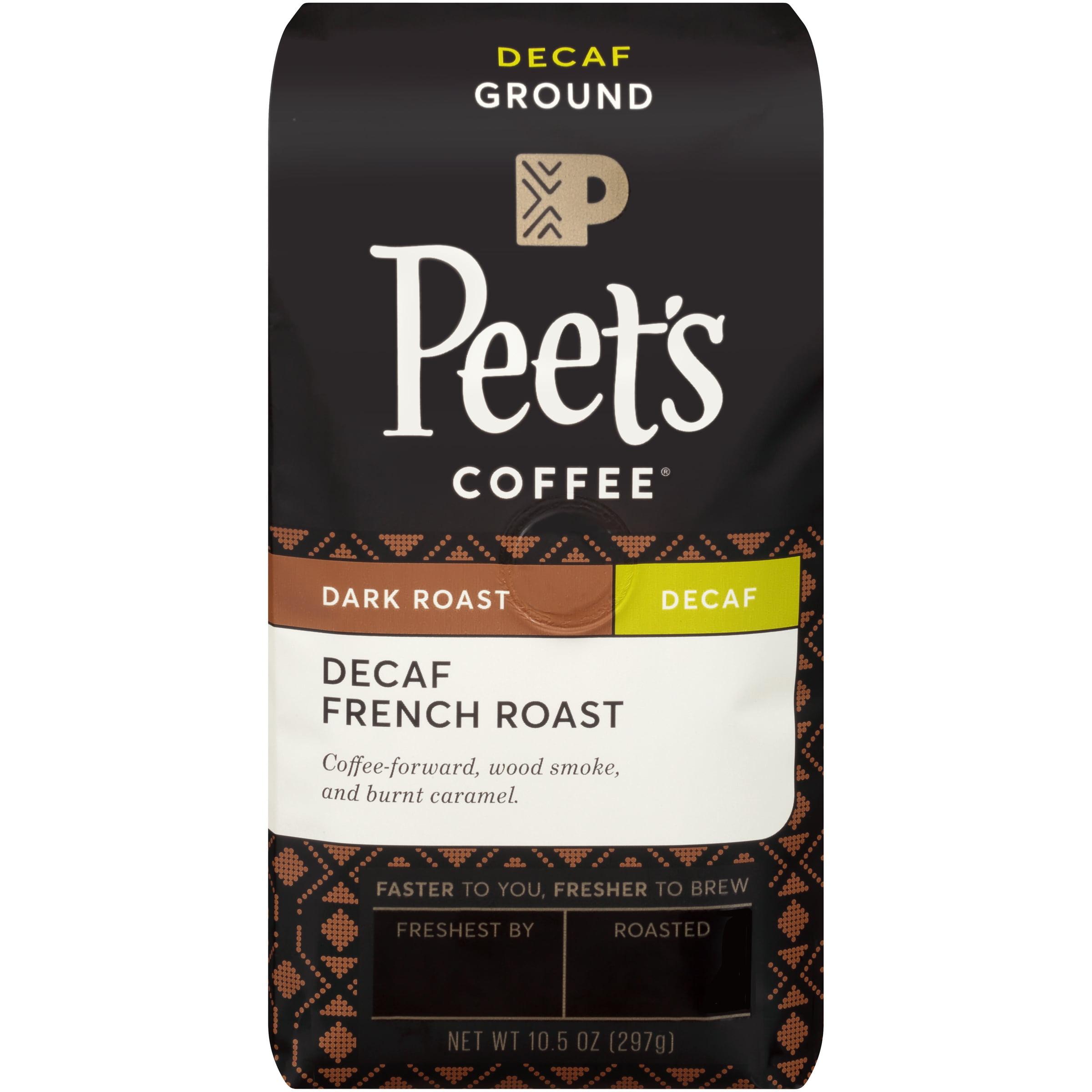 Peet's Coffee® Dark Roast Decaf French Roast Ground Coffee 10.5 oz. Bag - Walmart.com - Walmart.com