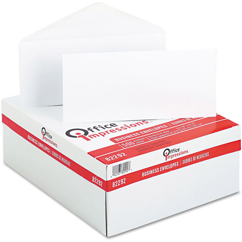 Office Impressions #10 Business Envelopes, Box of 500, White