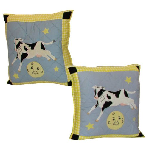 Patch Magic Hey Diddle Cotton Throw Pillow (Set of 2)