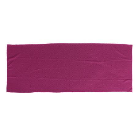 Unique Bargains Rectangle Shaped Sport Washcloth Drying Sweat Grooming Towel Fuchsia
