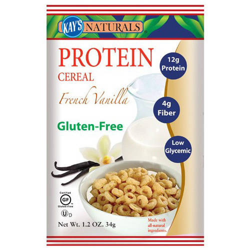 Kay's Naturals French Vanilla Protein Cereal, 1.2 oz, (Pack of 6)