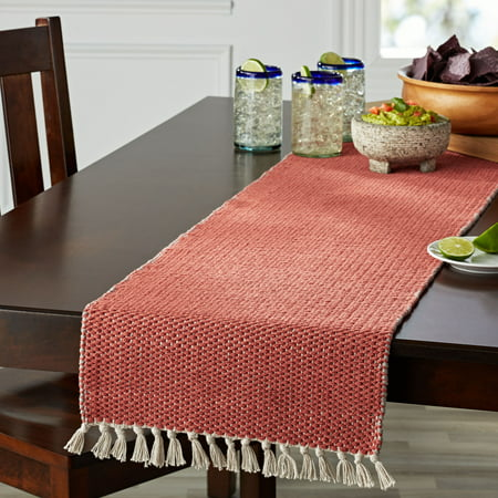 Better Homes & Gardens Double Weave Fringe Table Runner, Multiple Colors