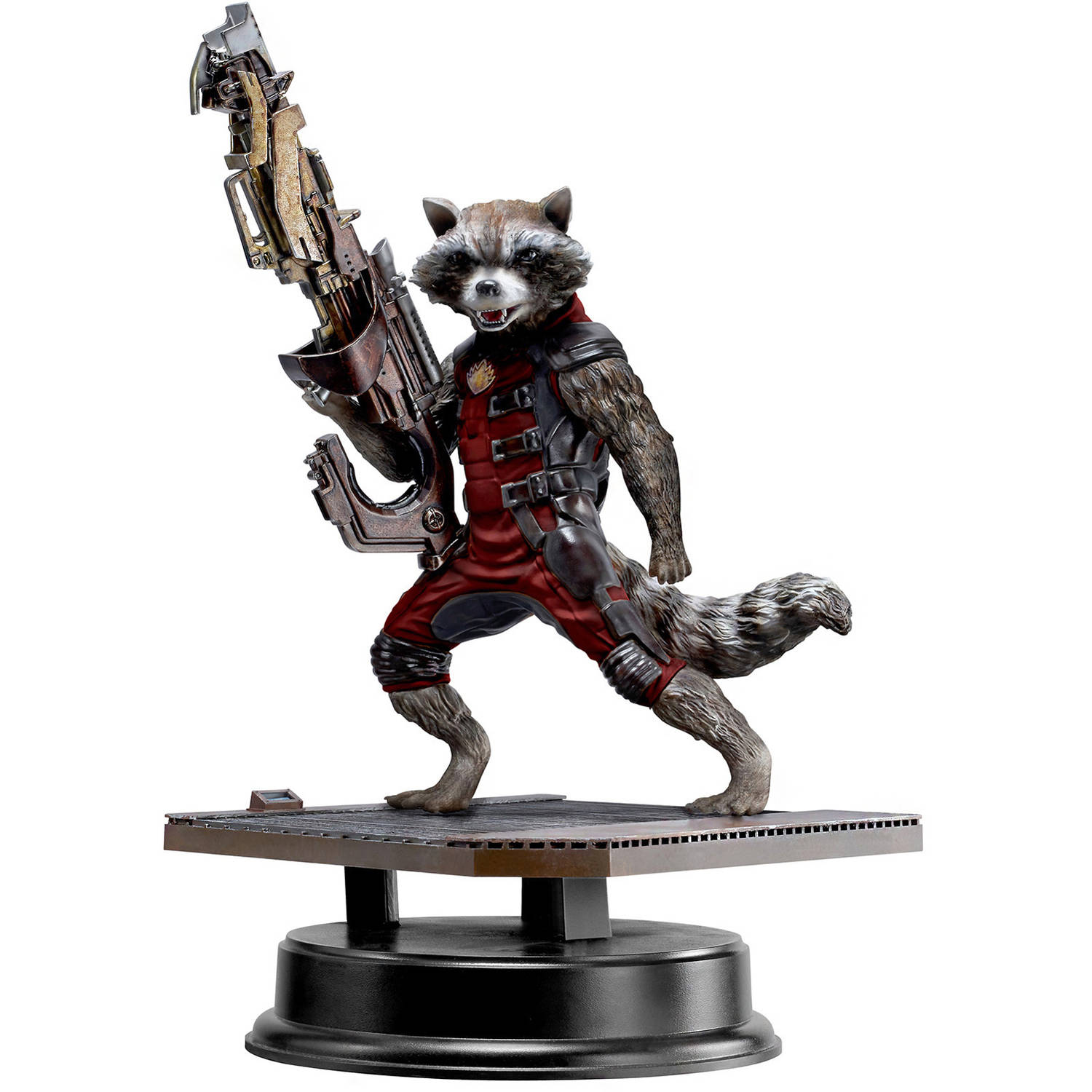 "Dragon Models 7"" Guardians of The Galaxy Rocket Raccoon in Red Suit Action Hero... by Dragon Models"