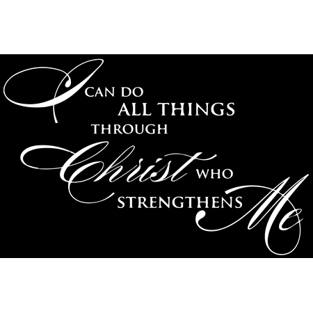 I can do all things through christ who strengthens Vinyl Decal Sticker