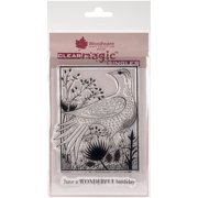 """Woodware Clear Stamps 3.5""""X5.5""""-Woodland Bird"""