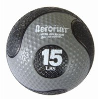 AGM Group 35977 10 in. Deluxe Medicine Ball - Black-Gray