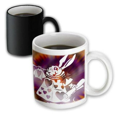 Alice In Wonderland Gifts (3dRose Magical White Rabbit - Cartoon Characters - Alice in Wonderland Fun, Magic Transforming Mug,)