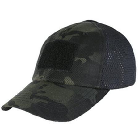 Condor #TCM TCM Tactical Mesh Cap - Multicam Black