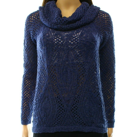 INC NEW Navy Blue Womens Size XS Knit Long-Sleeve Cowl Neck Sweater](Dark Knight Cowl For Sale)
