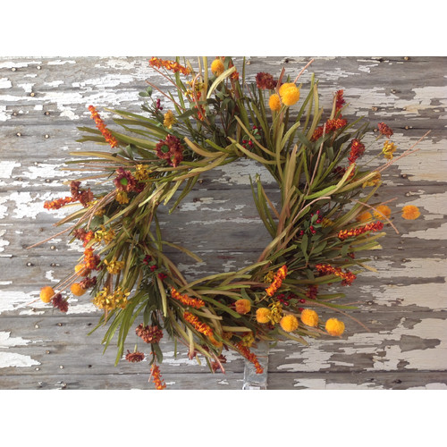 Mills Floral Grass and Flower Wreath