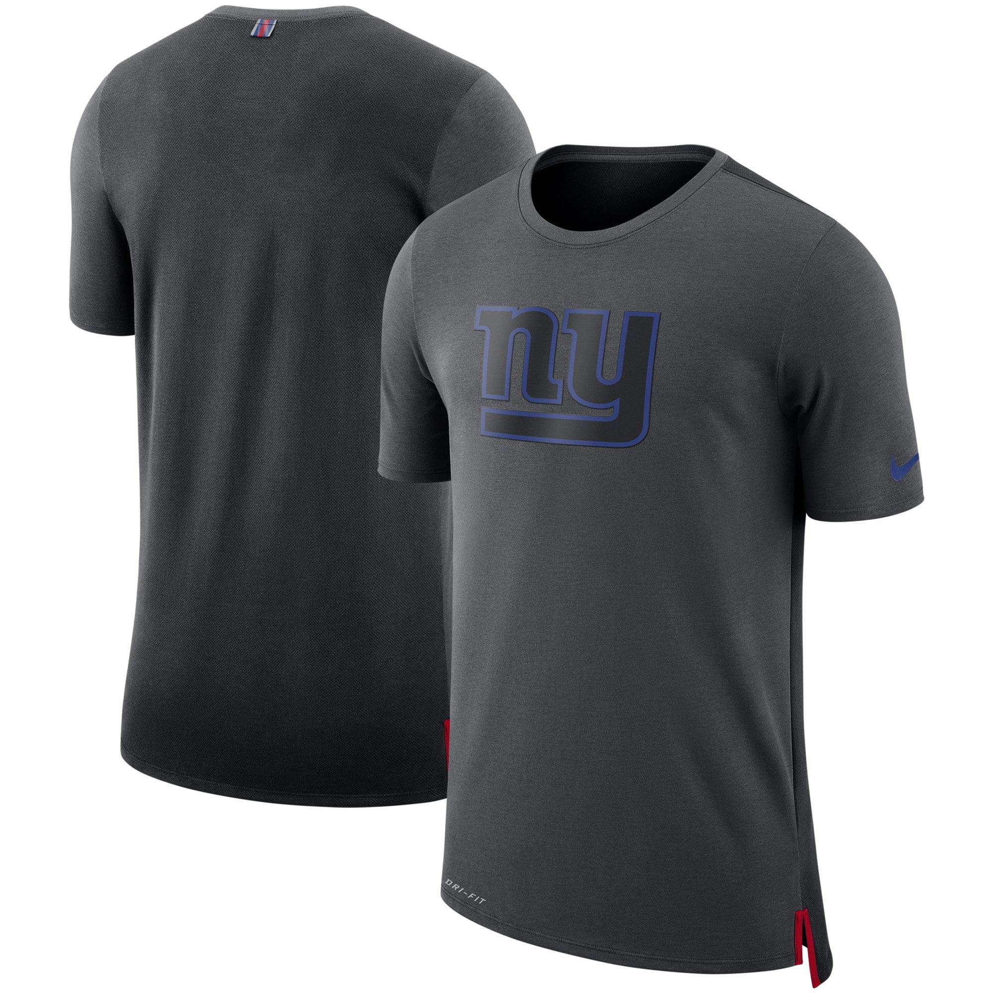 New York Giants Nike Sideline Travel Mesh Performance T-Shirt - Charcoal/Black