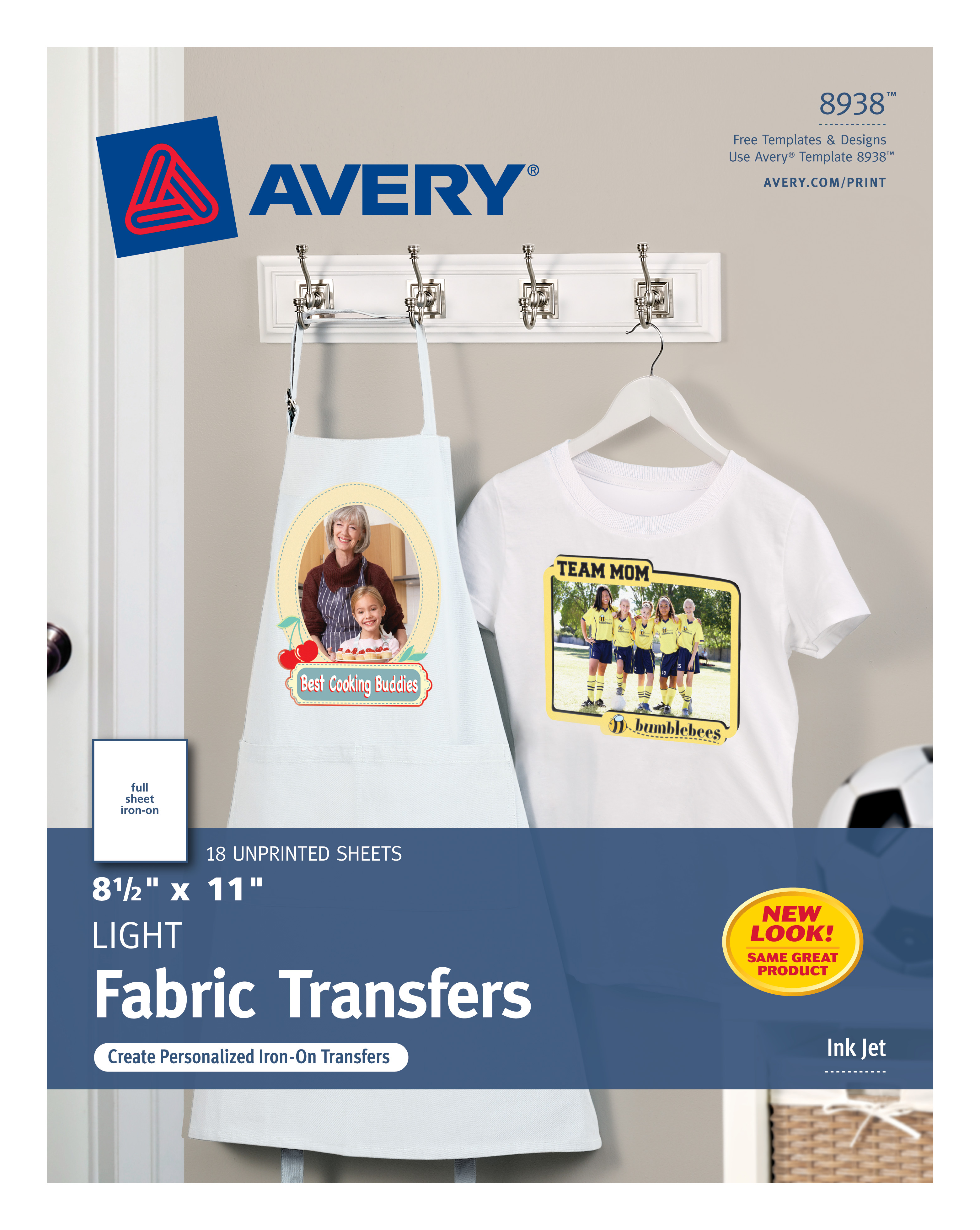 175357af Avery T-Shirt Transfers, 8-1/2