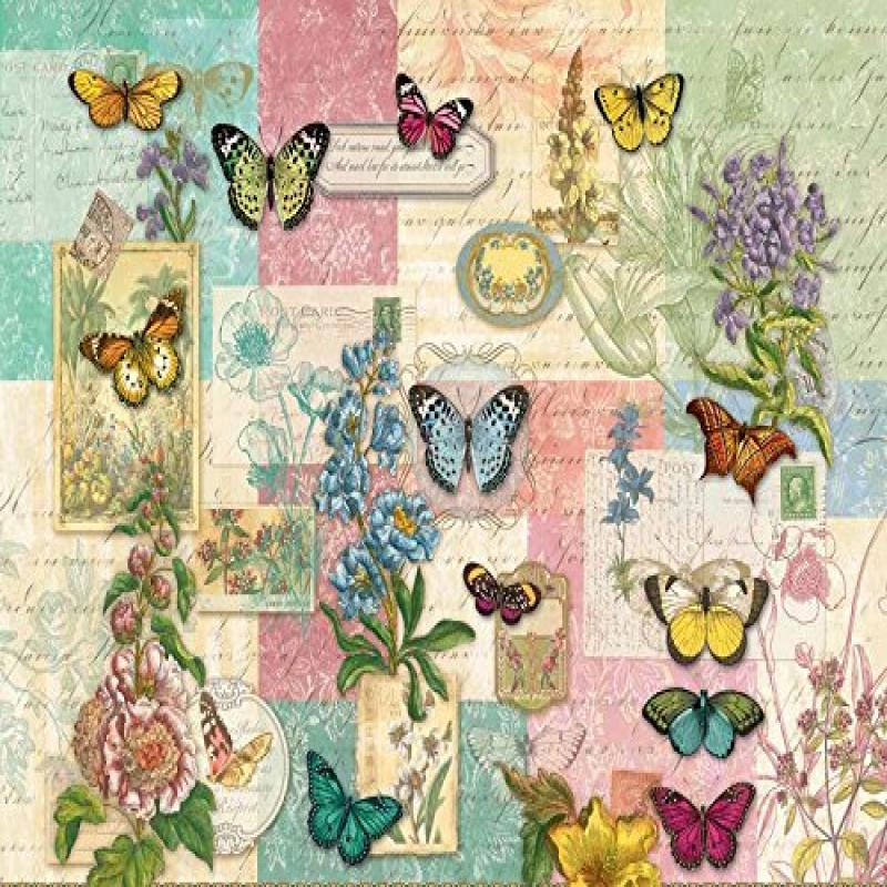 Patchwork Butterfly a 1000-Piece Jigsaw Puzzle by Sunsout Inc.