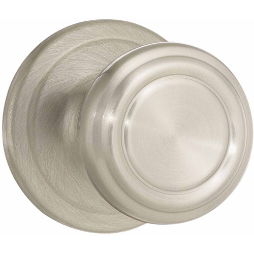 Kwikset Satin Nickel Surface Mounted Cameron Half-Dummy Trim Knob