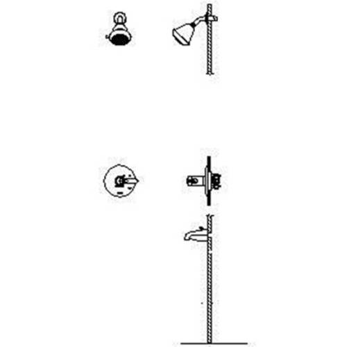 Delta T17TH225 Commercial Dual Function Pressure Balanced...