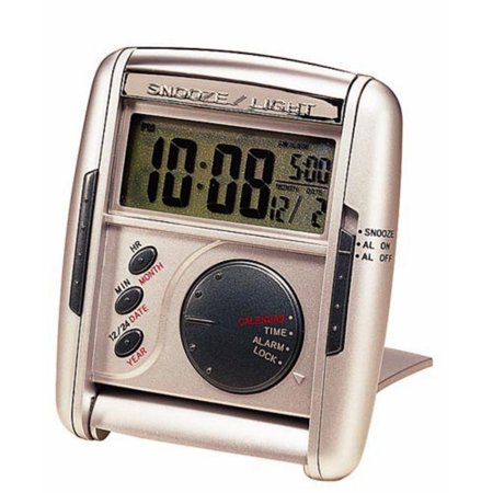 Seiko Silver Get Up; Glow Travel Alarm Clock
