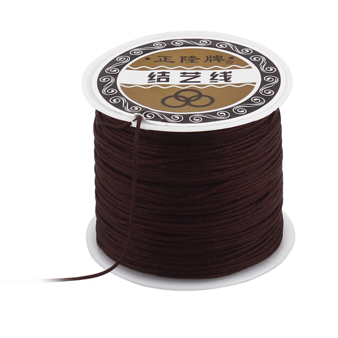 DIY Necklace Bracelet Jewelry Making Beads String Thread Roll Brown 55 Yard - image 3 of 3