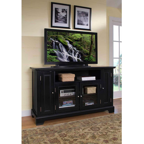 "Home Styles Bedford Wood 60"" TV Stand in Ebony"