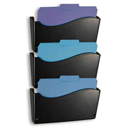 Officemate International 22382 2200 Series Wall Letter File System, Black