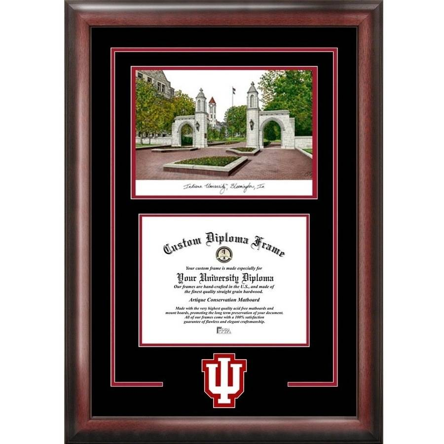 """Indiana Hoosiers 8.5"""" x 11"""" Spirit Graduate Frame with Campus Image"""