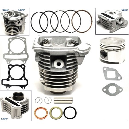 50cc Cylinder & Head 39mm Piston Gasket Kit For ATV Quad Moped Scooter GY6 50 50cc QMB139 motor
