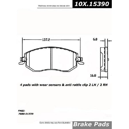 Go-Parts OE Replacement for 2010-2018 Subaru Forester Front Disc Brake Pad Set for Subaru Forester (2.5i Convenience / Base / Touring / WRX Premium)