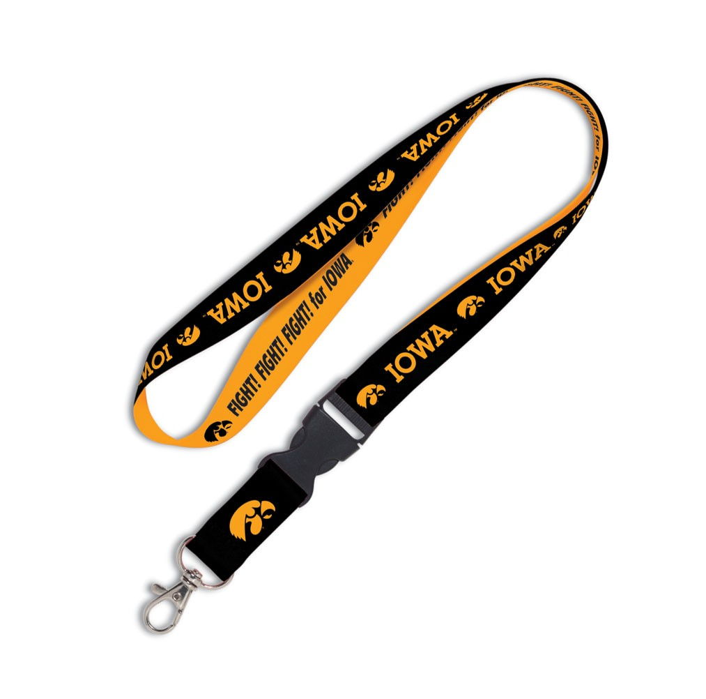Iowa Hawkeyes Official NCAA 20 inch  Lanyard Key Chain Keychain by WinCraft