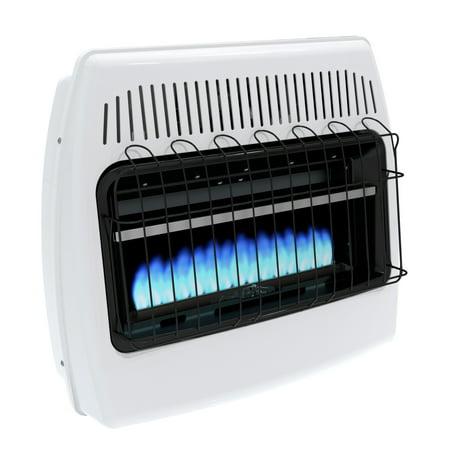 - Dyna-Glo 30,000 BTU Liquid Propane Blue Flame Vent Free Wall Heater