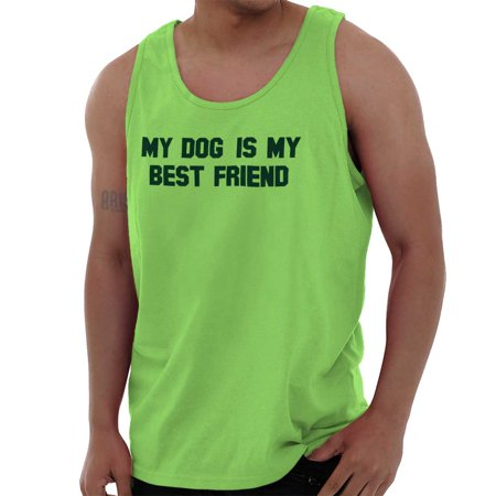 Brisco Brands My Dog Is My BFF Best Friend Unisex Jersey Tank Top (Best Selling Sports Jerseys)