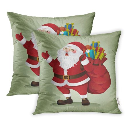 33b3105ef9 YWOTA Red Sack Santa Claus Box Cartoon Christmas Pillow Cases Cushion Cover  18x18 inch - Walmart.com
