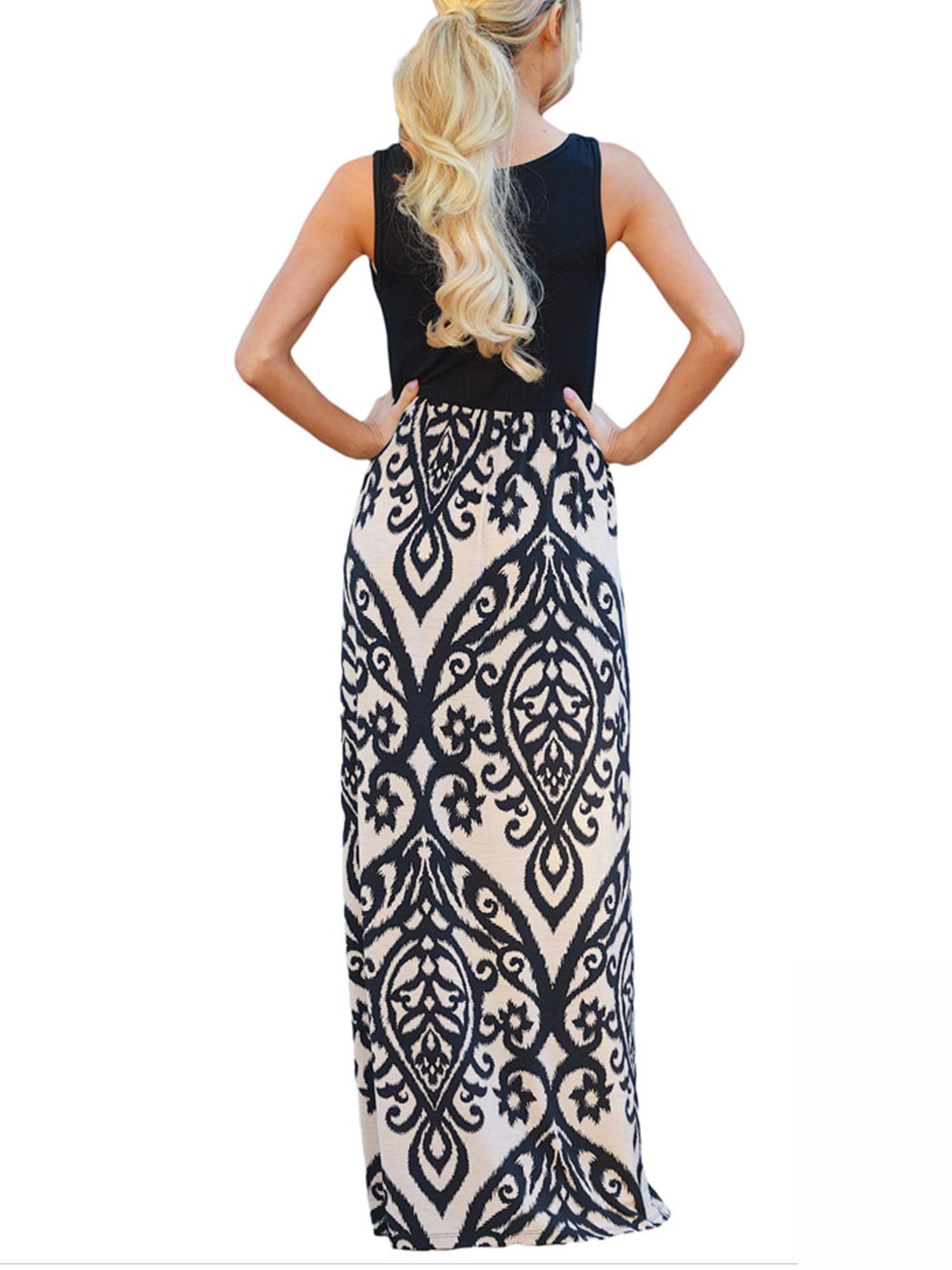 SAYFUT - SAYFUT Women\'s Ruched Sleeveless Tank Maternity Dress ...