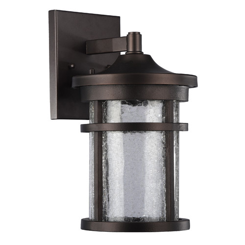 "CHLOE Lighting FRONTIER Transitional LED Rubbed Bronze Outdoor Wall Sconce 11"" Height"