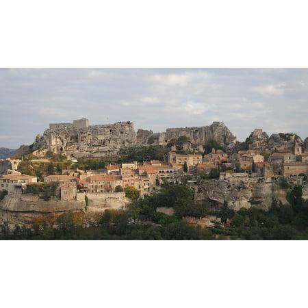 canvas print lease-de-provence rock village stretched canvas 10 x - Rock Village