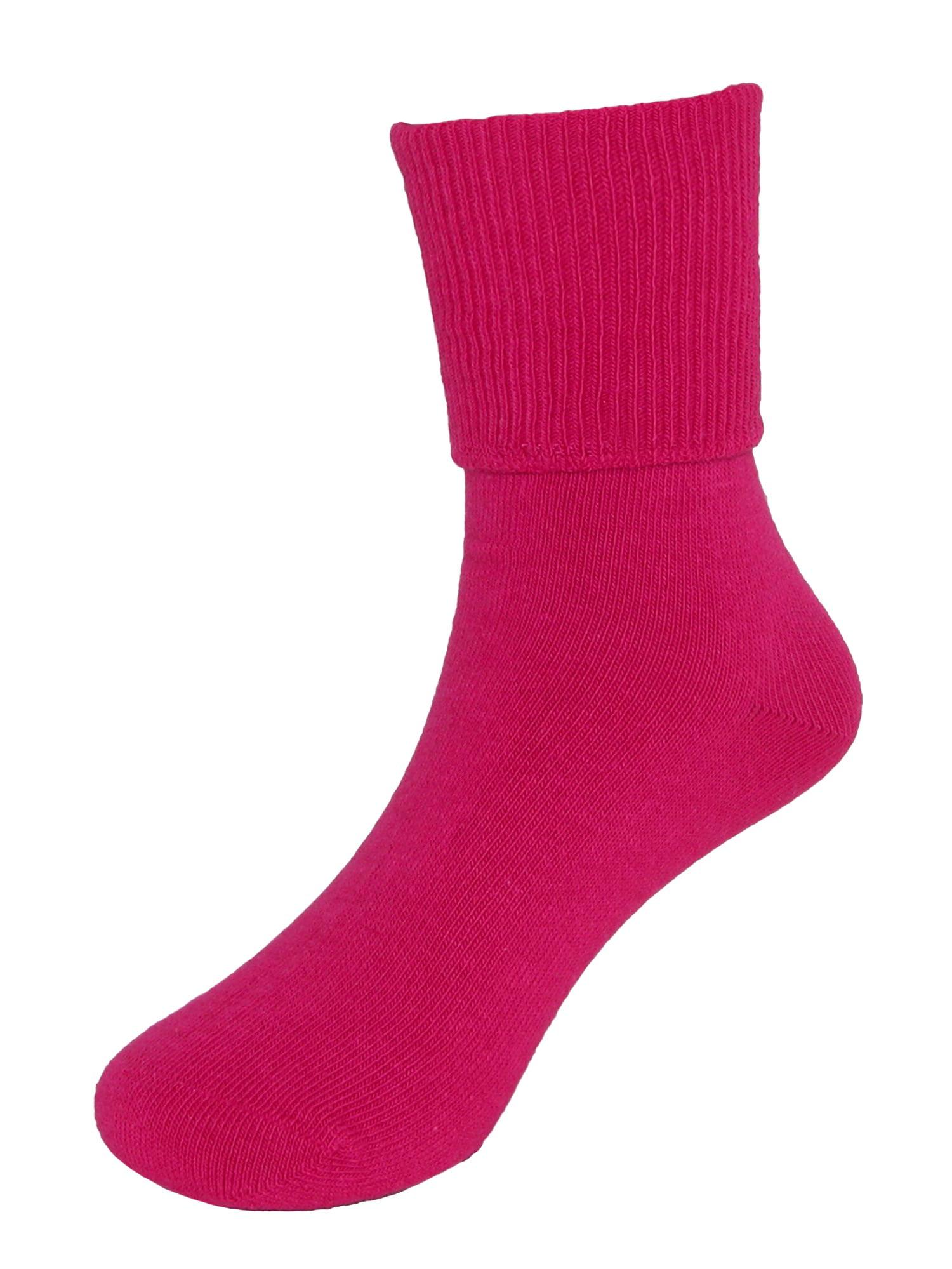 Girl's Seamless Turn Cuff Anklet Socks (6 Pair Pack)