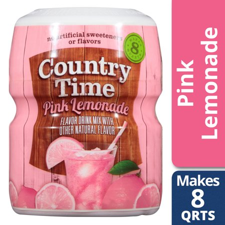 Country Time Pink Lemonade Drink Mix, Caffeine Free, 19 oz Jar