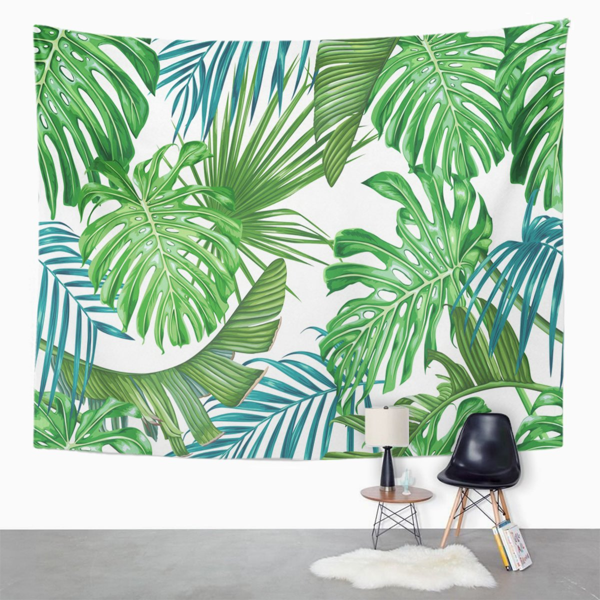 Ufaezu Green Tropic Tropical Leaves Palm And Monstera Pattern Leaf Wall Art Hanging Tapestry Home Decor For Living Room Bedroom Dorm 60x80 Inch Walmart Com Walmart Com Explore trending designs from independent artists. walmart
