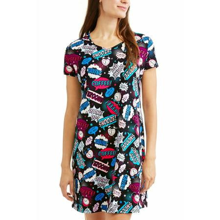 1d64c425ef5 Secret Treasures - Ladies  Graphic Short Sleeve V-Neck Sleep Shirt ...