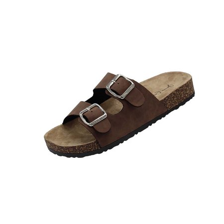 5ec93887bcd1 Kylie-01 Women Double Buckle Straps Sandals Flip Flop Platform Footbed  Sandals Pewter 11 - Walmart.com