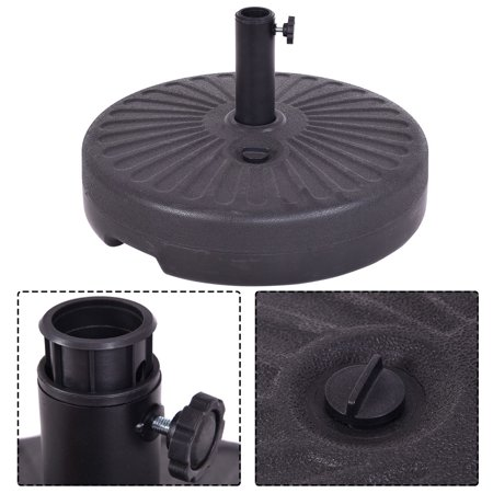 Costway 20'' Round 23L Water Filled Umbrella Base Stand Self-filled Patio  Furniture Black - Walmart.com - Costway 20'' Round 23L Water Filled Umbrella Base Stand Self-filled