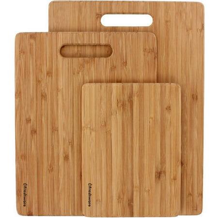 Freshware Bamboo Cutting Boards, 3-Piece