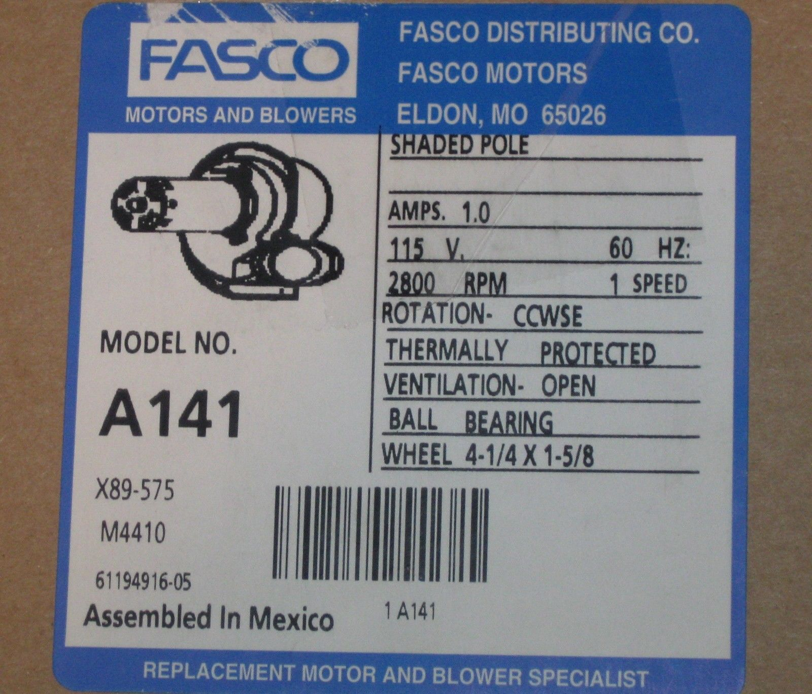 A141 Fasco Furnace Motor fits 7021-8741 7021-8742 7021-9188 7021 ...