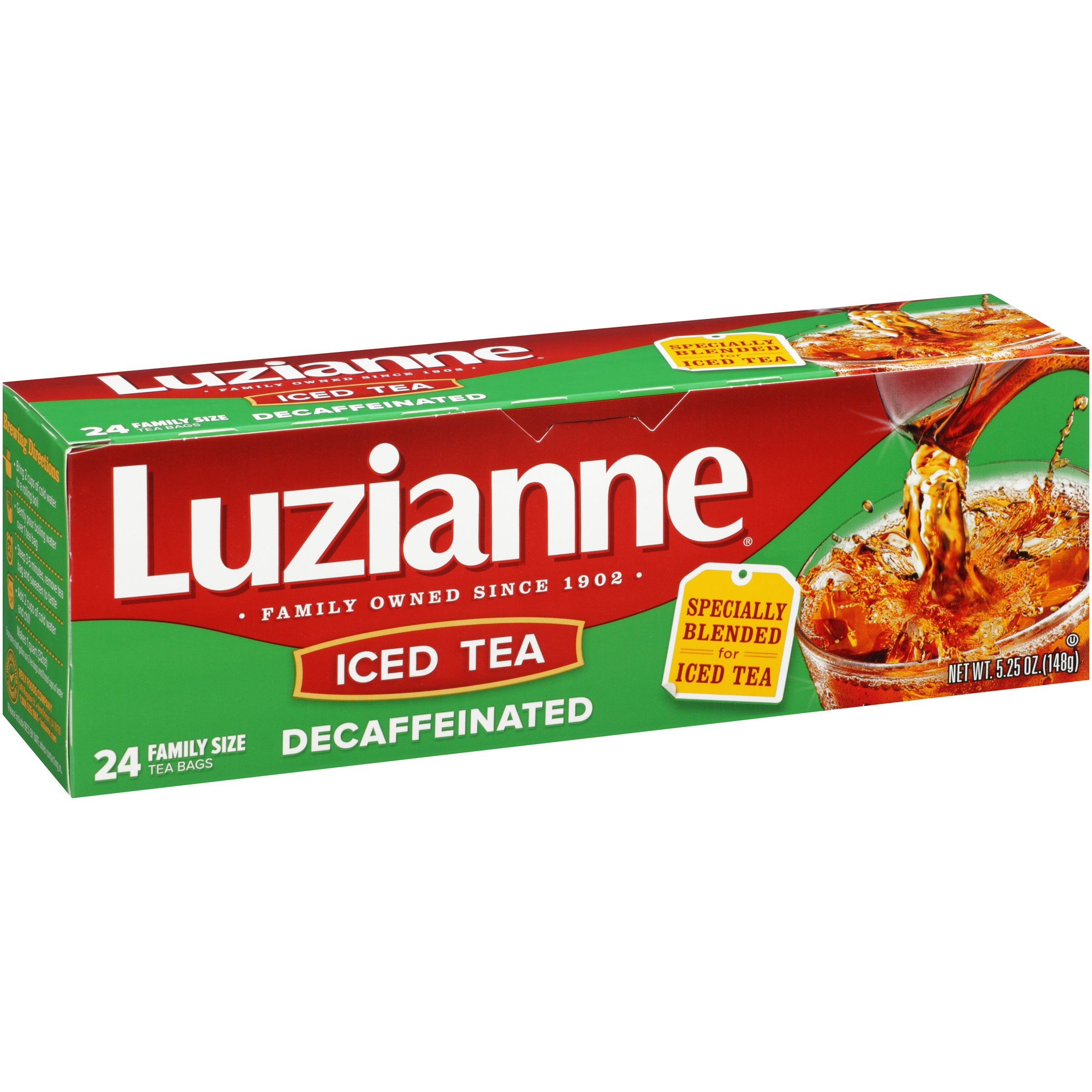 (2 Pack) Luzianne Decaffeinated Iced Tea, 24 Ct